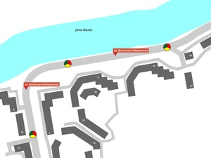 Работу светофоров оптимизировали для пешеходов на Волжской набережной