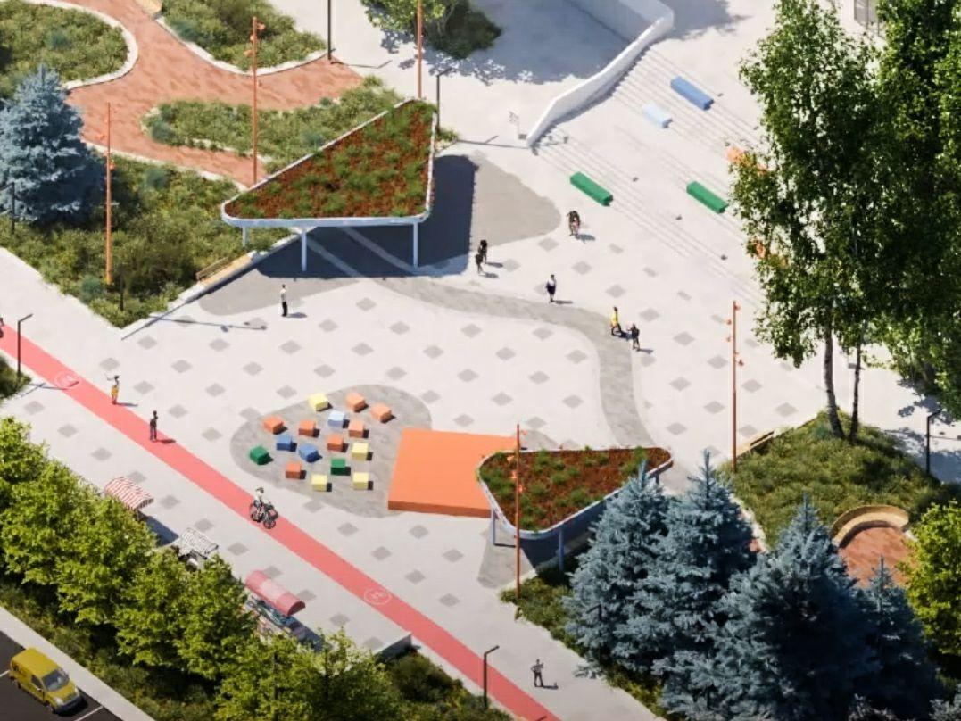 Расширить фонтан и убрать «аллею школьников»: каким может стать бульвар Рокоссовского - фото 3