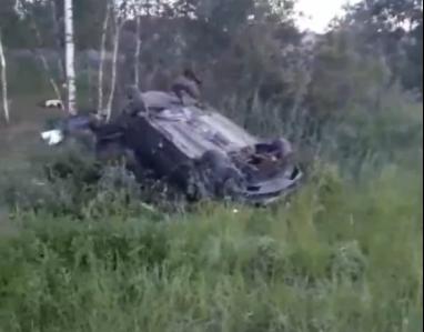 На трассе Нижний Новгород — Киров опрокинулся автомобиль