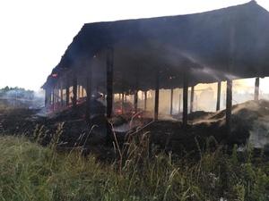 Крупный склад с углем сгорел около Пижмы