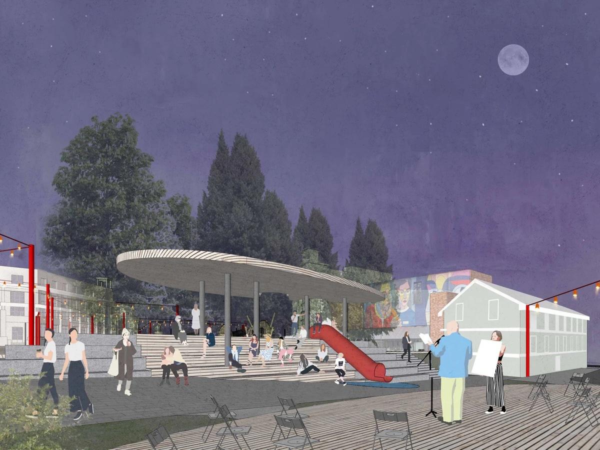 Амфитеатр под навесом и детская площадка появятся в сквере Свердлова - фото 2