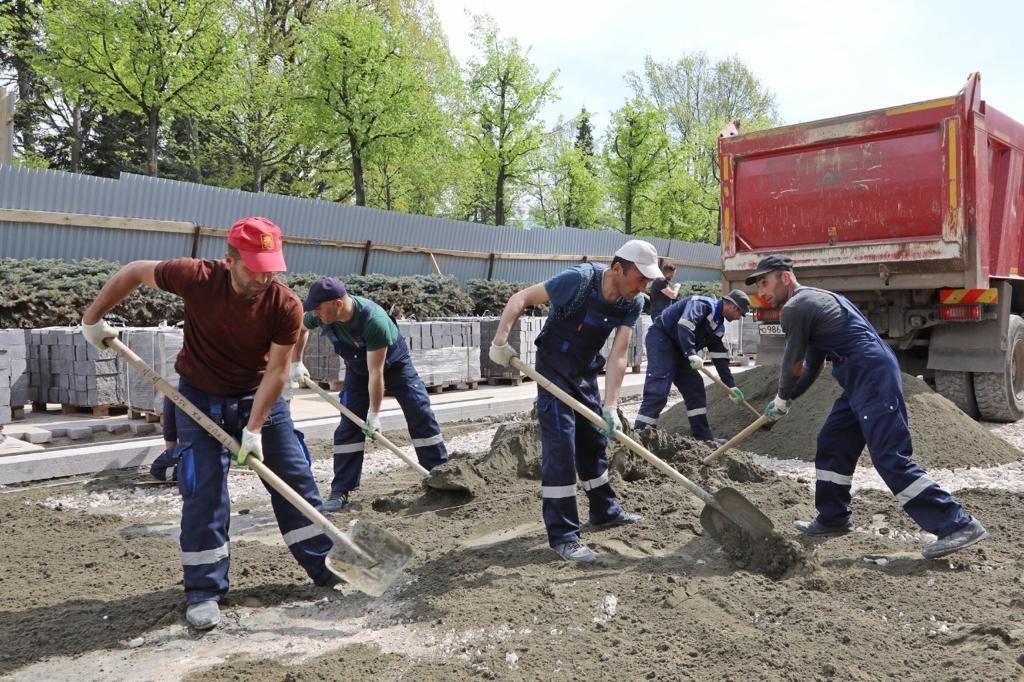 Благоустройство Ивановского съезда в Нижнем Новгороде завершится к 30 июня - фото 1