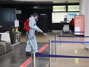 Дезинфекцию нижегородского аэропорта доверили студентам-спасателям