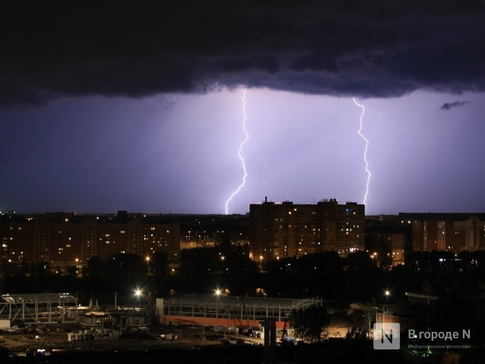 МЧС предупреждает нижегородцев о грозах и ливнях - фото 1
