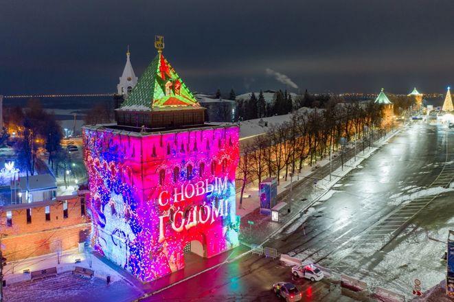 3D-инсталляция появилась на Дмитриевской башне Нижегородского кремля - фото 1
