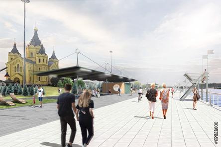 Благоустройство Окской набережной началось в Нижнем Новгороде